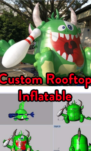 custom rooftop inflatable with your company logo.