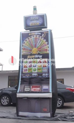 custom inflatable slot machine