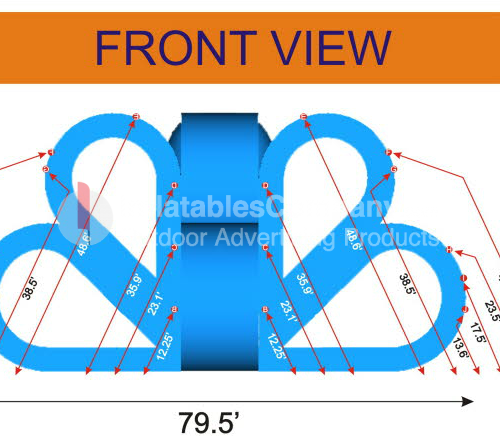 custom 3d design for ribbon inflatable adverstiing