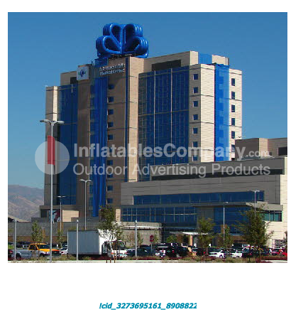 inflatable blue ribbon design, mfg outdoor advertsign