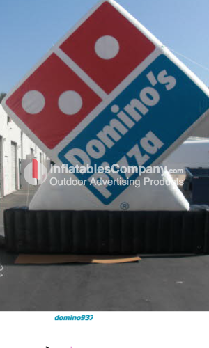 custom logo inflatables for dominos pizza