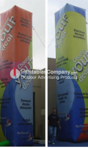 Custom trade show inflatable tower